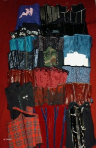 Just a few of the corsets I made prior to 2007 when this photo was taken.