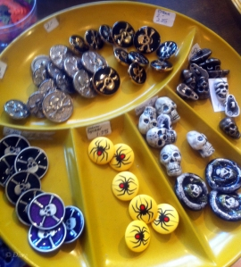 More great gothic buttons from Button Button in Vancouver, BC