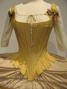 Full shot of the corset from The Duchess along with the shift below.