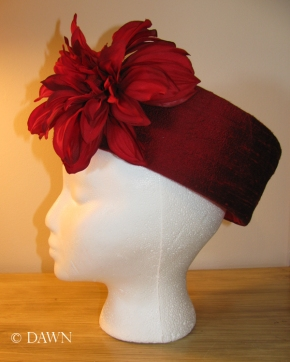 Millinery pillbox