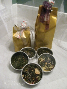 Tins wrapped up and ready to wrap