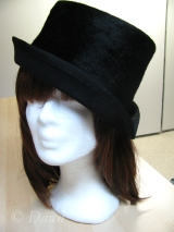 Black fur felt millinery hat