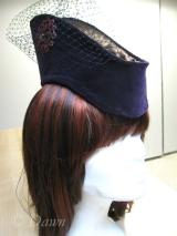 Purple faux vintage velvet millinery hat