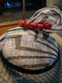 'Scrap' sinamay hat