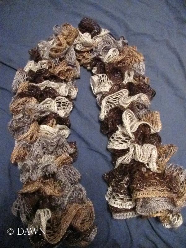 Red Heart Sashay ruffle scarf