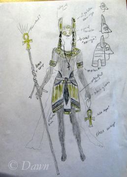 Anubis costume sketch