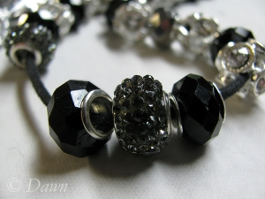 Some of the Pandora-type beads - and a work in progress...