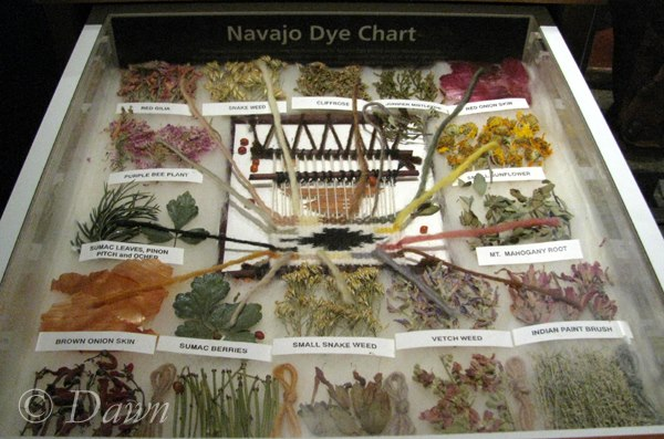 Natural dyes used by the Navajo - from the Bata Shoe Museum in Toronto