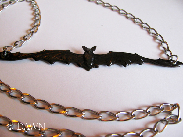 Second bat necklace