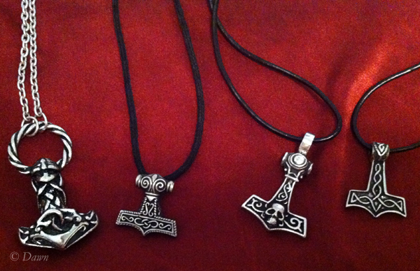 Four of the mjölnir pendants I bought.