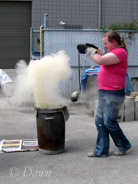 Raku demonstration at Fairview Studios