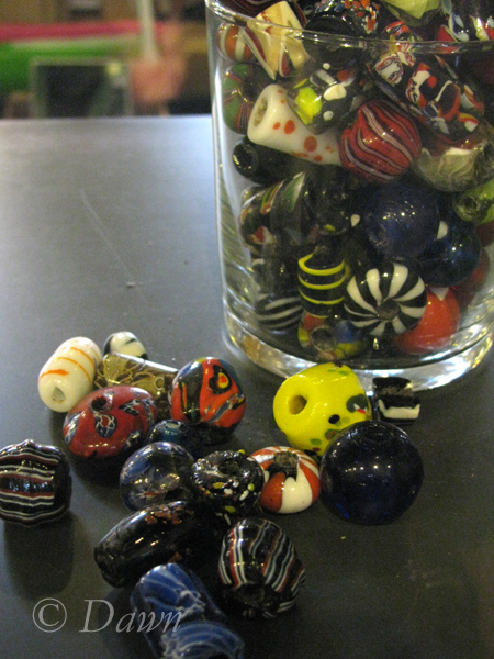 Viking-style beads in the Turku Castle gift shop
