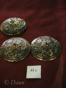Viking-style round broaches at the gift shop in the Turku Castle