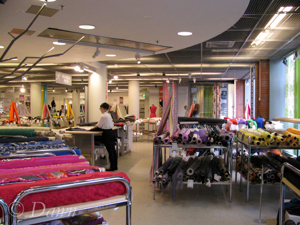 Eurokangas fabric store in Helsinki