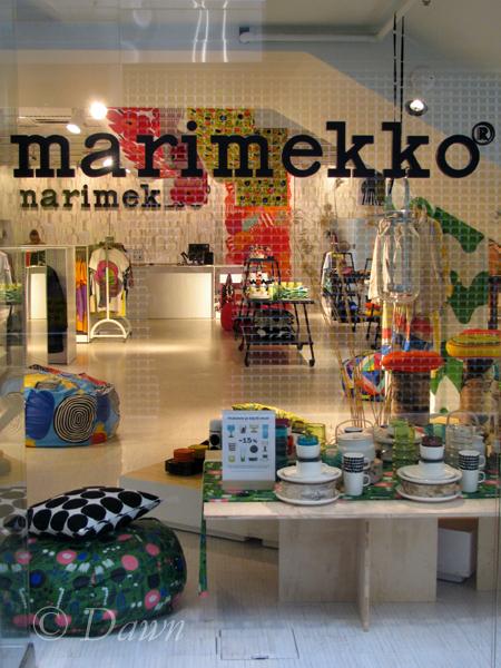 Marimekko shop in Turku