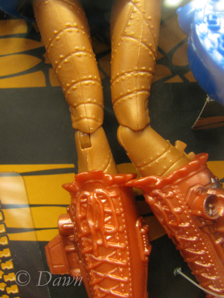 Steampunk legs on the doll