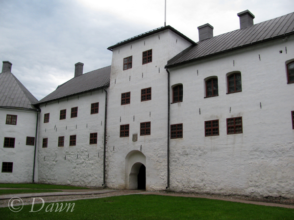 Exterior of the main entrance to the castle courtyard