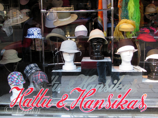 Hat shop in Turku