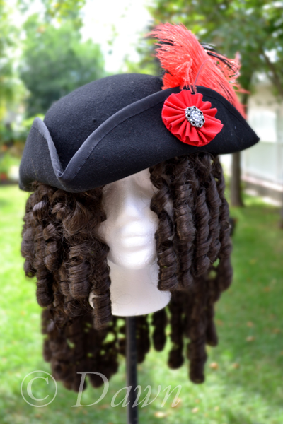 Black Felt Tricorn hat