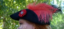Me wearing the Black Felt Tricorn hat