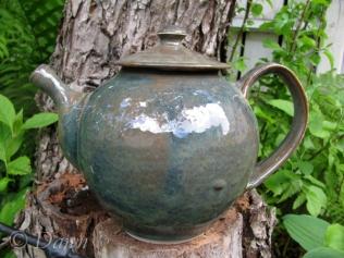 Gorgeous blue/green teapot