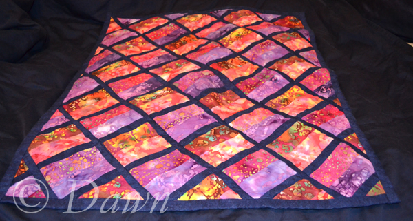 on-point jelly roll quilt