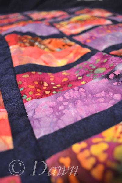 up close - on-point jelly roll quilt