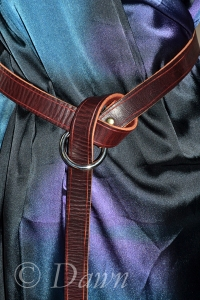Home-made leather belt - more to come on this in a later post!