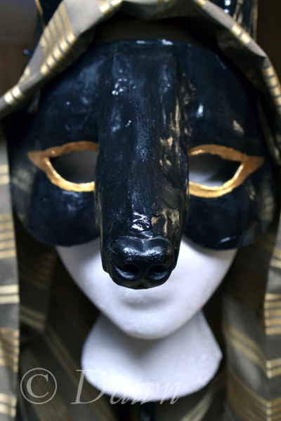 My Anubis mask - nose close up