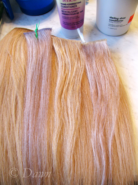 Hair Toning Continued  Left To Right   Shimmer Lights, John Frieda, AG  Stirling