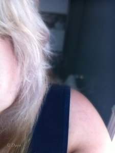 The final effect  - white hair!