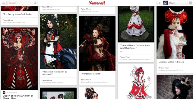 Alice in Wonderland Pinterest board
