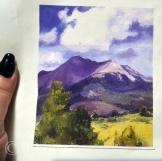 """The original """"mountains & a tree"""" inspiration artwork"""