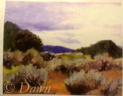 "The original ""desert landscape"" inspiration artwork"