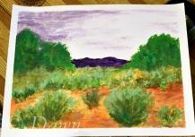 Mum's interpretation of the 'desert landscape'