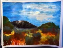 My interpretation of the 'desert landscape'