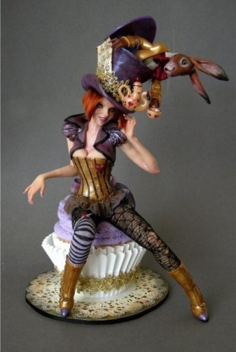 Figure by polymer clay artist Nicole West