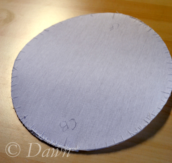 Tip of the Wellington in buckram and wired