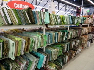 Quilting cottons at Marshalls