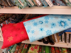 red and blue winter print... but take a look at the close up!