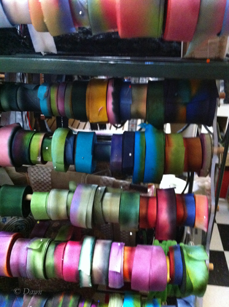 Silk ribbons at Out of Hand