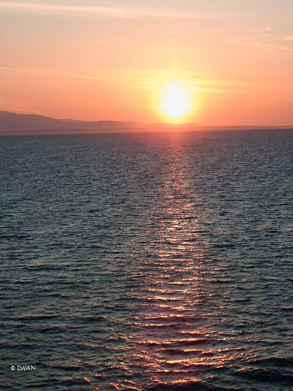 Sunset during my Alaska cruise