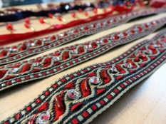 Close up of the beaded trim