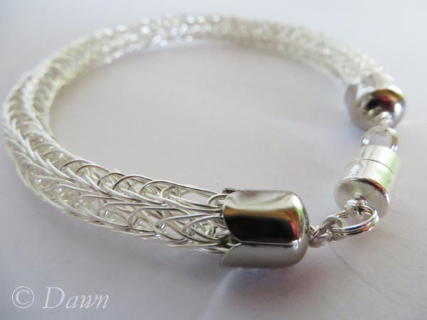 Silver Viking-Knit bracelet