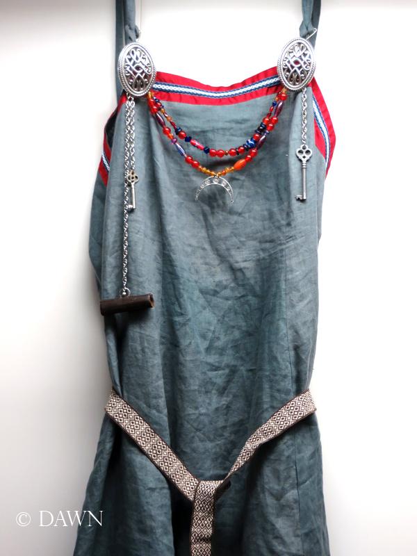 Blue linen Apron Dress