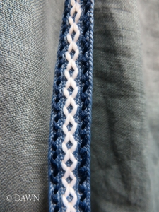 close up of the purchased trim