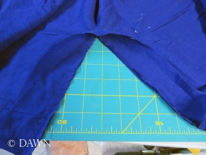 Binding the back neckline