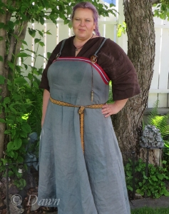 Quick photo in my garden of the Viking outfit - taken after the event.