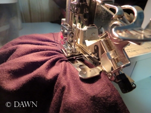 Using a ruffler foot attachment for your sewing machine