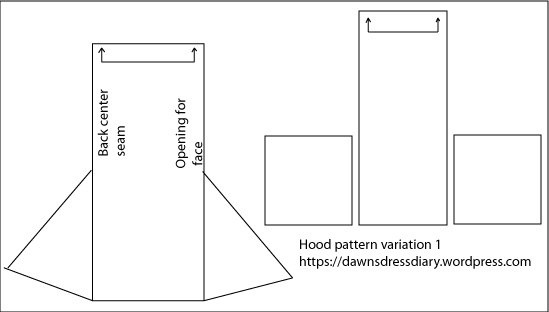 Rectangular construction hood (not to scale)